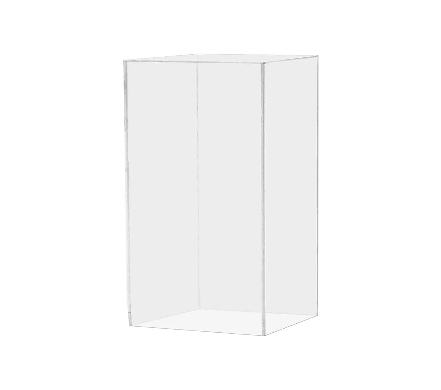 """Marketing Holders Pedestal Art Stand Easel Display Decor Collectible Cube Pillar Post Prop Column Mast Riser 5 Sided Show Case 12""""w x 12""""d x 24""""h Pack of 1"""