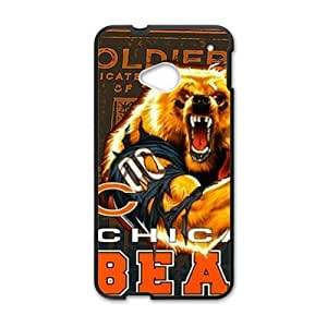 Happy Chicago Bears Fahionable And Popular Back Case Cover For HTC One M7