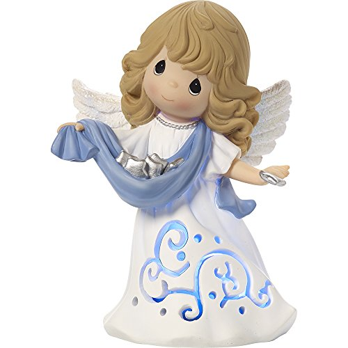 Precious Moments Hark! The Herald Angels Sing Musical LED Lighted Angel Figurine ()