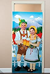 A fun addition to Oktoberfest party supplies, this photo door banner provides a great spot for #partypics! From Oktoberfest to the fall carnival, this instant photo booth brings fun to your fun. Plastic. 3 ft. x 6 ft.