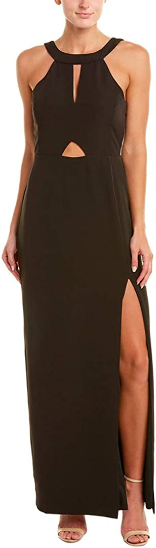 Laundry by Shelli Segal Womens Cut-Out Halter Evening Dress