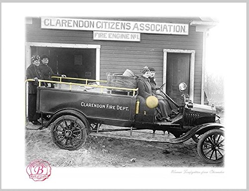 BrotherhoodProducts Clarendon Fire Dept. Fire Engine No. 1 8x10 Print (Clarendon Shops)