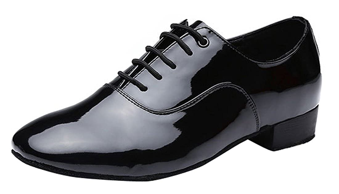 TDA Men's Classic Lace-up Leather Tango Ballroom Salsa Latin Dance Wedding Shoes