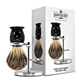 SilverTip Badger Hair Shaving Brush and Stand Set - Highest Quality Badger Hair You Can Get for the Price - New & Improved - 100% Satisfaction Guarantee