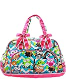 N. Gil Quilted Weekender Duffel Bag (Chevron Owl Aqua Hot Pink) Review
