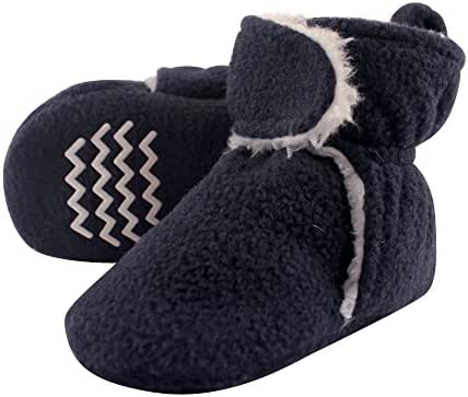 Hudson Baby Baby Girls' Cozy Sherpa Booties with Non Skid Bottom