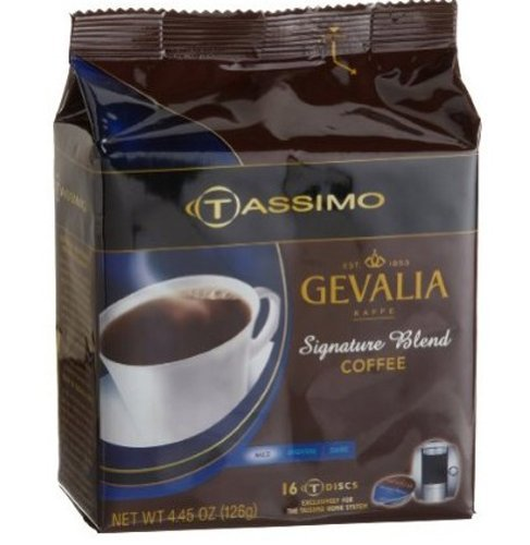 Gevalia Signature Blend Coffee, 16-Count T-Discs for Tassimo Professional (Foodservice) Coffeemakers (Pack of 5) by Gevalia