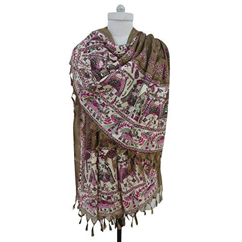 Dupatta abrigo cuello mant Hijab Art bufanda seda Aboutyou q5nxCfwaI