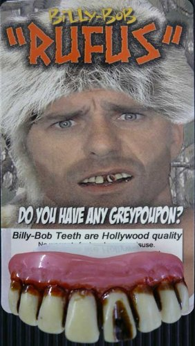 Billy Bob Fake Halloween Teeth - Rufus ()