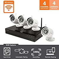 Samsung Wisenet SNK-B73040BWN Wireless 4 Channel Full HD Video Security System 4 Bullet Cameras