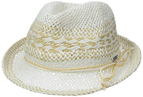 Roxy Junior's Big Swell Fedora Hat, White, Small/Medium