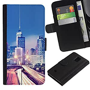 UNIQCASE - Samsung Galaxy S5 Mini, SM-G800, NOT S5 REGULAR! - Modern City Traffic Lights - Cuero PU Delgado caso cubierta Shell Armor Funda Case Cover