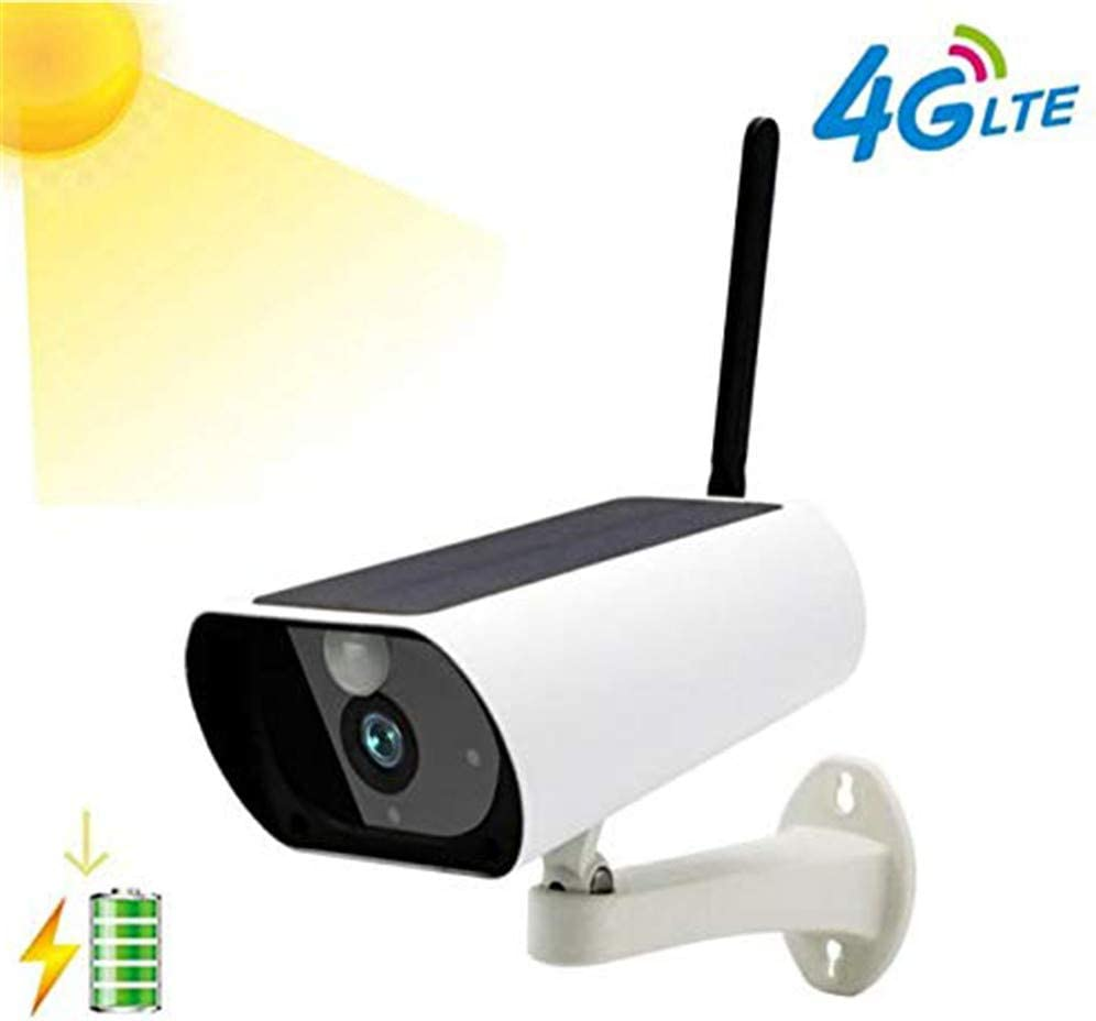 2.0 Mp1080P 4G Lte Sim Card Supported Outdoor Wireless Solar Battery Powered Bullet Security Ip Camera With Pir Motion Detection, Built In Rechargeable Battery Included