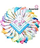 La closure Womens Vintage Floral Cotton Handkerchiefs Wedding Party Bulk Pack