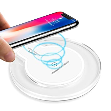 ULTRICS Cargador Inalámbrico, Qi Habilitado Wireless Charger, Universal Estándar Cargador Movil Compatible con Apple iPhone 11 Pro/ XS Max/ XR/ X/ 8, ...