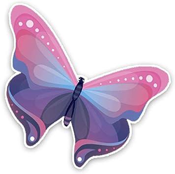 Amazon Fr Zhouhaojie Totem Autocollants De Voiture 124cm124cm Drole Mignon Dessin Anime Papillon Couleur Pvc Voiture Autocollants Decoratifs Graphiques 0