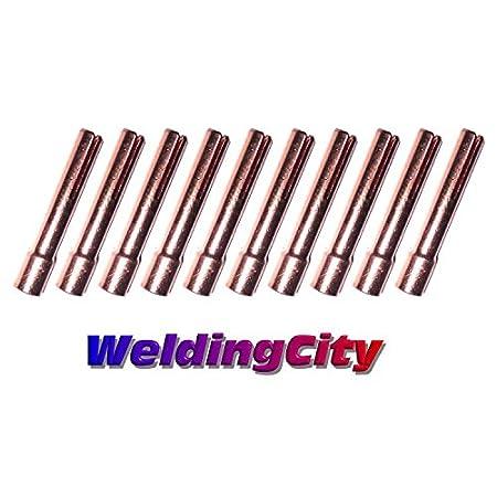 WeldingCity 10-pk Collet 13N23 (3/32') for TIG Welding Torch 9, 20 and 25 Series in Lincoln Miller ESAB Weldcraft CK Everlast WeldingCity.com