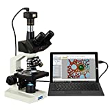 OMAX 40X-2000X Digital Lab Trinocular Compound LED Microscope with 5MP Digital Camera and Double Layer Mechanical Stage