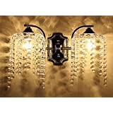 Fuloon Wall Light Fuloon Fixture Sconce Chandelier Crystal Wall lamp 2 head Ornate Cast Iron