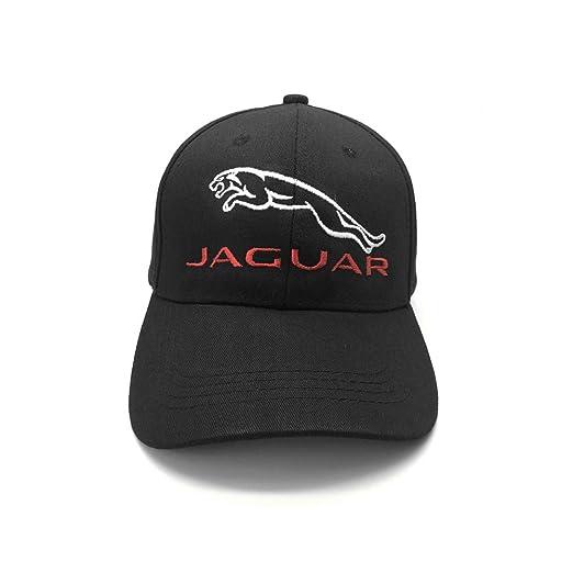 08efc3f18d1 Home fashion diy jaguar car logo embroidered baseball cap dad hat black  white adjustable unisex jpg