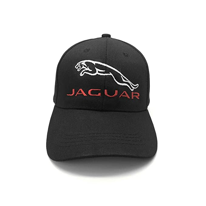Home Fashion DIY Jaguar Car Logo Embroidered Baseball Cap Dad Hat  Black White Adjustable Unisex fceab5215d2e