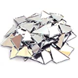 Milltown Merchants™ Mirrored Glass Cobbles (1 Pound) - Reflective Stained Glass - Broken Glass for Stepping Stones, Crafts, and Mosaic Making