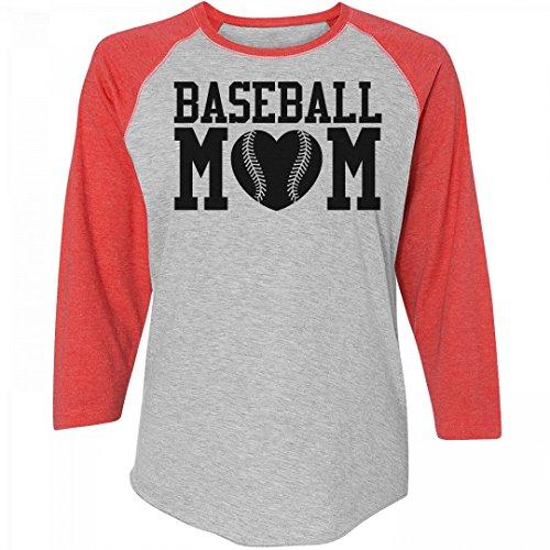 Custom Baseball Mom: Junior Fit District Mesh Sleeve V-Neck (Mesh Custom V-neck)
