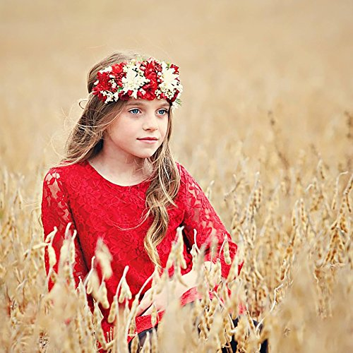 1 Flower Sleeves Dress 16 Red Girl 7 Lace Dresses 6 Country CVERRE BgY0wqwd