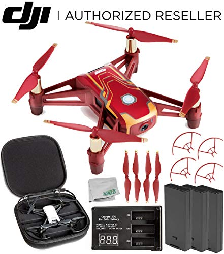 Ryze Tello Iron Man Edition Quadcopter Drone with HD Camera and VR - Powered by DJI Technology and Intel Processor Combo Kit