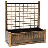 BrylaneHome Flower Box with Trellis - Bronze