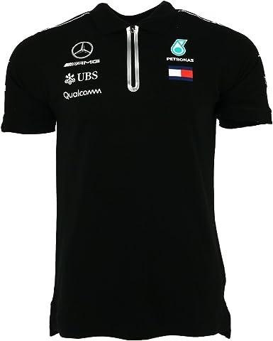 Mercedes AMG Petronas Mercedes AMG-Polo para Hombre, Color Negro ...
