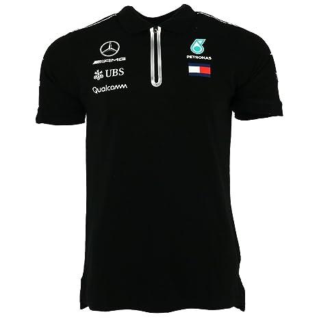 Mercedes AMG Petronas Men 2018, Black Mercedes AMG-Polo para ...