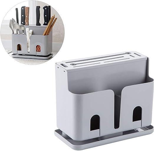 Kylewo Caja de Cubiertos de plástico - Caja de Almacenamiento para ...