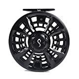 M MAXIMUMCATCH Maxcatch Sprint Expert Fully Sealed Fly Fishing Reel CNC-machined Aluminum Alloy Body (Diamond Black, 9/11wt)