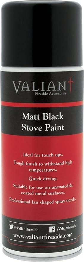 Valiant fir170 Pintura de estufa, color negro mate