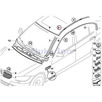BMW Genuine Body Trim Door Front Left Exterior Channel Cover Black Matte 323i 325i 325xi 328i 328xi M3 323i 328i 328xi M3 325xi 328i 328xi 328i 328xi