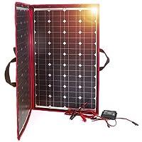 Dokio - Kit de panel solar plegable, ligero, monocristalino con control solar, 2 salidas USB, 100 W, 12V, para caravana…