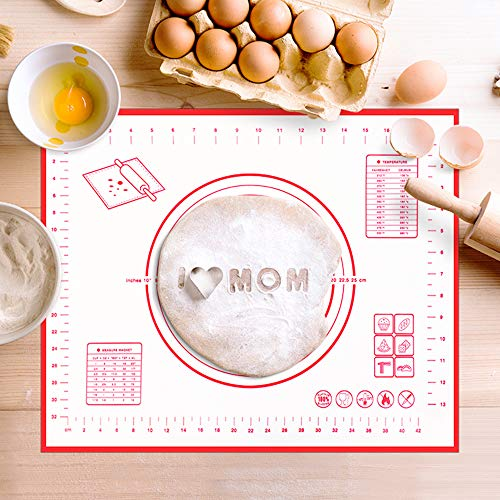 Silicone Pastry Mat Non Stick Baking Mat with Measurement- Fondant