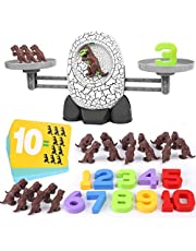 Nueplay 63PCS Balance Math Game, Kids Dinosaur Toys for Age 3+ Year Old Boys Girls Gifts Balance Number STEM Educational Preschool Learning Counting Math Fun Games