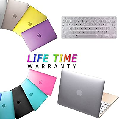 "Macbook Air 11"" Case Cover, IC ICLOVER Ultra Slim and Light Weight Rubberized Matte Hard Protective Case Cover & Keyboard Cover for Macbook Air 11.6""(A1465 /A1370)"