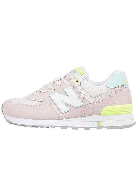 New Balance WL 574 NSC Sneaker Donna Panna Giallo: Amazon.it