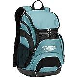 Speedo Large Teamster Backpack, Light Blue/Black, 35-Liter