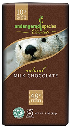 Endangered Species Otter Milk Chocolate, 3 Ounce (Pack of 12) by Endangered Species