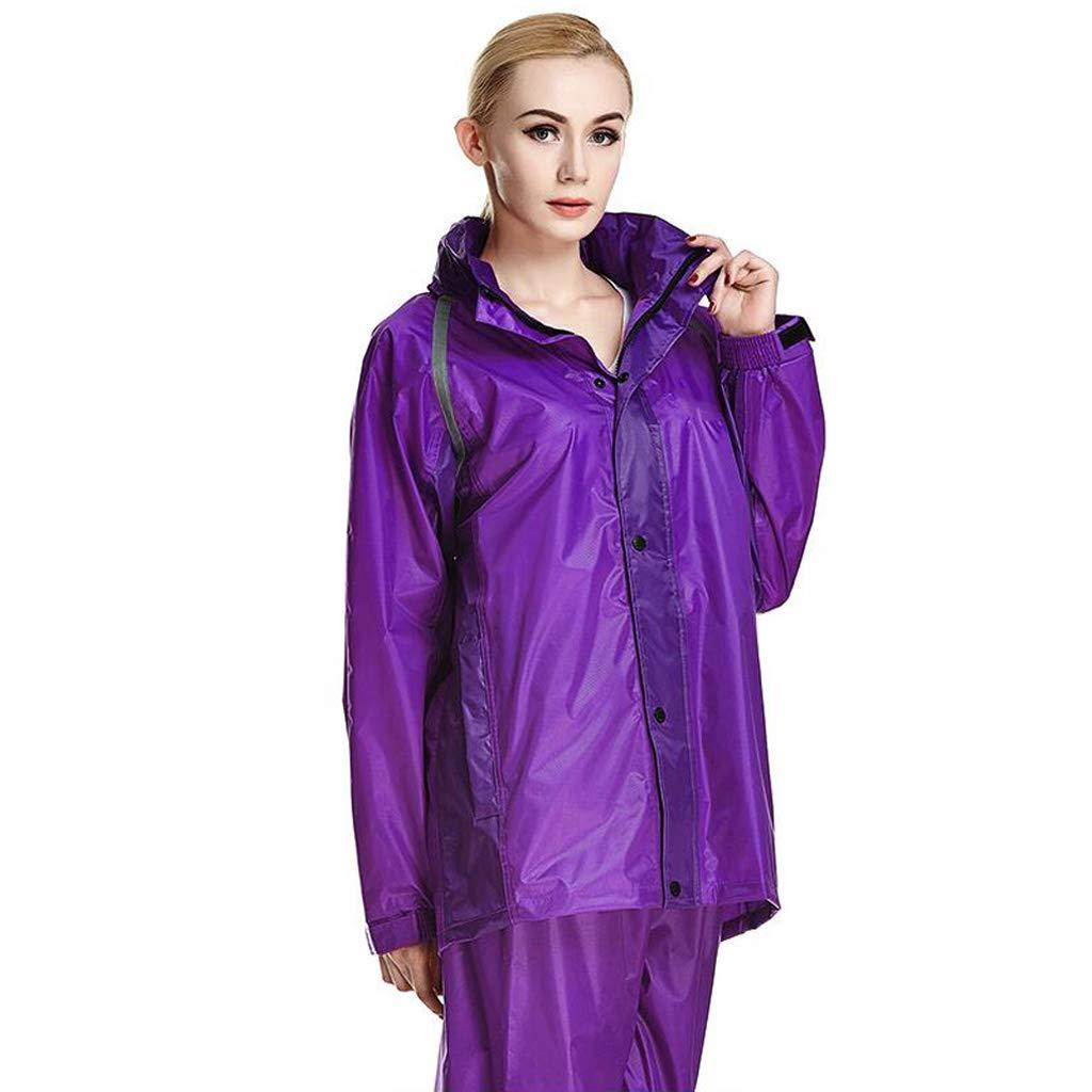 Draußen Frauen Regenbekleidung Erwachsenen Regenmantel Herren Windjacke Warm Wasserdicht Verdicken Regen Jacke Hosenanzug für Reisen Wandern Ski Golf