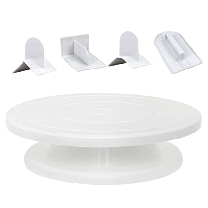 11u0026quot; Cake Stand with 4 Different Fondant Smoother Tools Rotating Cake Turntable Decorating Sets  sc 1 st  Amazon.com & Amazon.com | 11