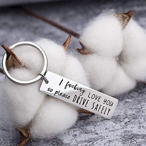 Runalp I Fuking Love You So Please Drive Safely, Stainless Steel Keyring