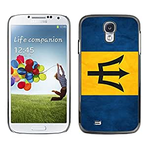 Shell-Star ( National Flag Series-Barbados ) Snap On Hard Protective Case For Samsung Galaxy S4 IV (I9500 / I9505 / I9505G) / SGH-i337