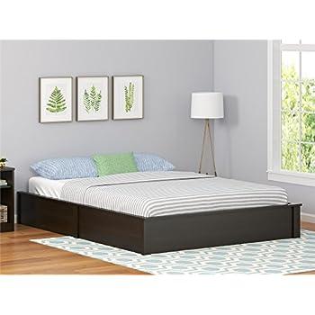 Amazon Com South Shore Mikka Platform Bed Frame Queen