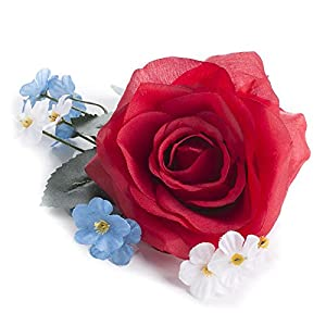 Factory Direct Craft Group of 12 Petite Red, White, and Blue Artificial Rose and Wildflower Boutonnieres for Parties, Events and Everyday Patriotism 9