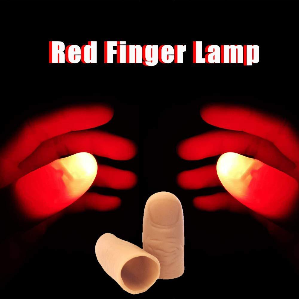 dedo Lámpara LED pulgar luz mágica Punta de goma 3 paquetes 6 piezas magia